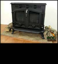 The Cadiz - Wood burner with back boiler ECO006B
